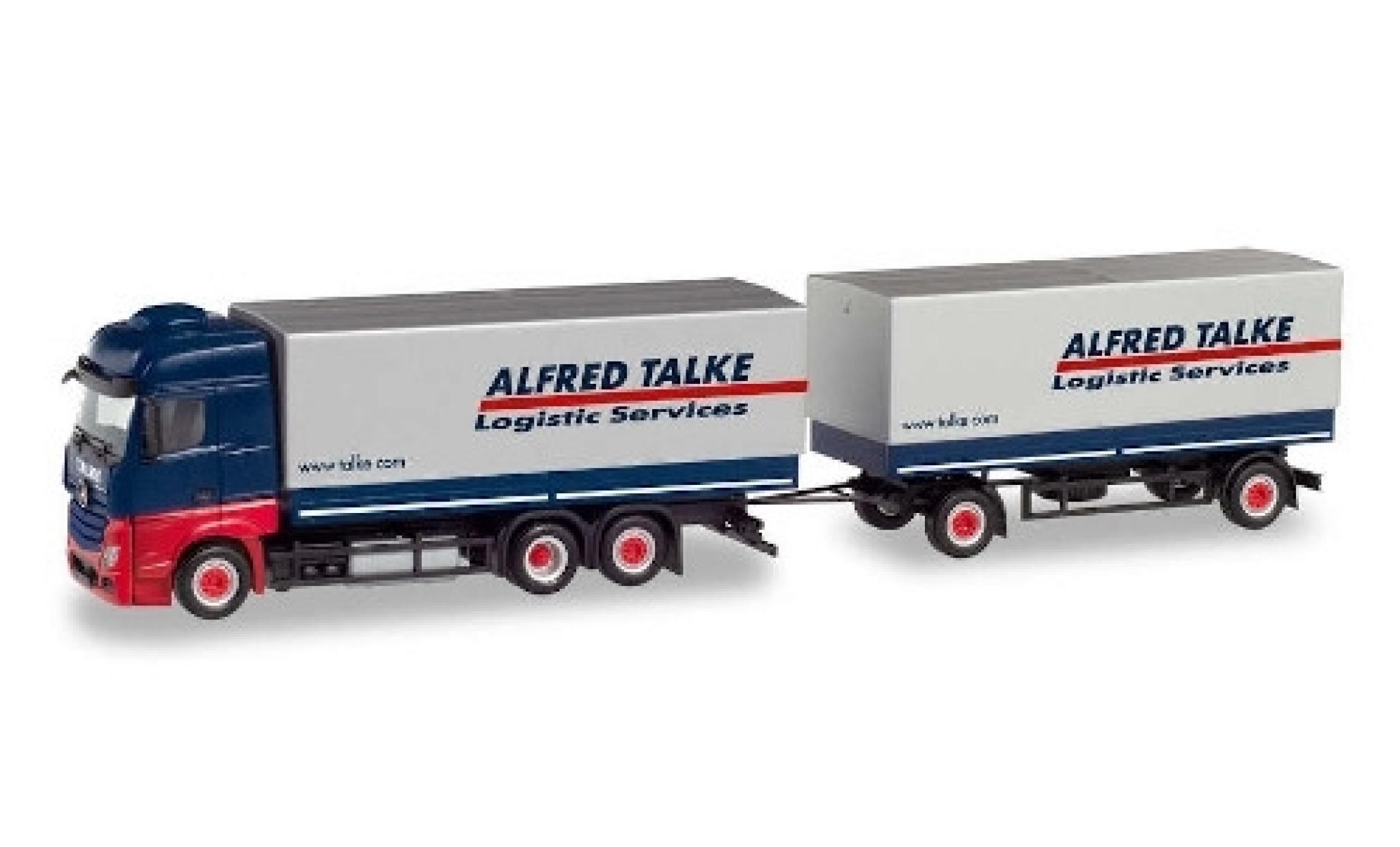 Mercedes Actros 1/87 Herpa Bigspace Alfred Talke Plan-camion avec remorque