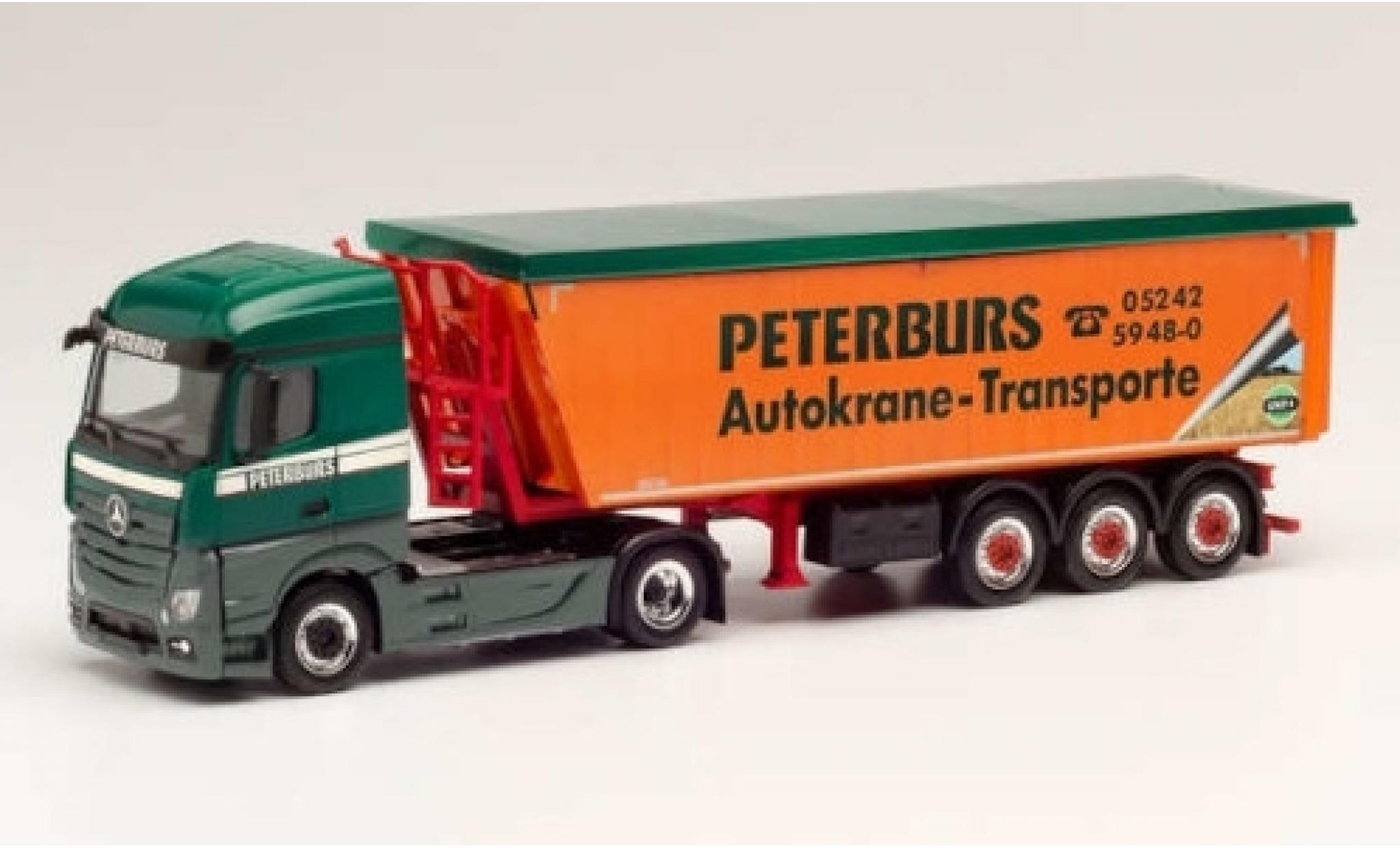 Mercedes Actros 1/87 Herpa Streamspace 2.5 Peterburs Stöffelliner-tracteur