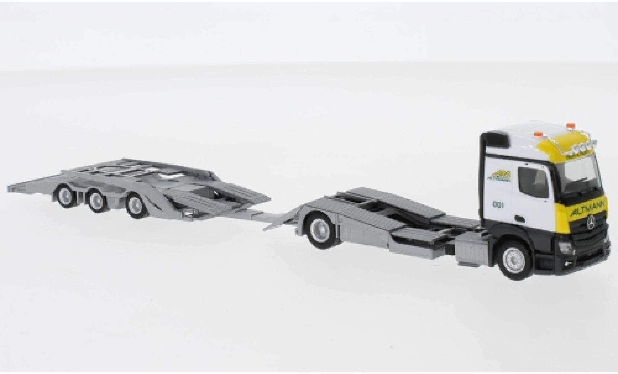 Mercedes Actros 1/87 Herpa Streamspace ARS (Bayern / Wolnzach) LKW-Transporter-Hängerzug