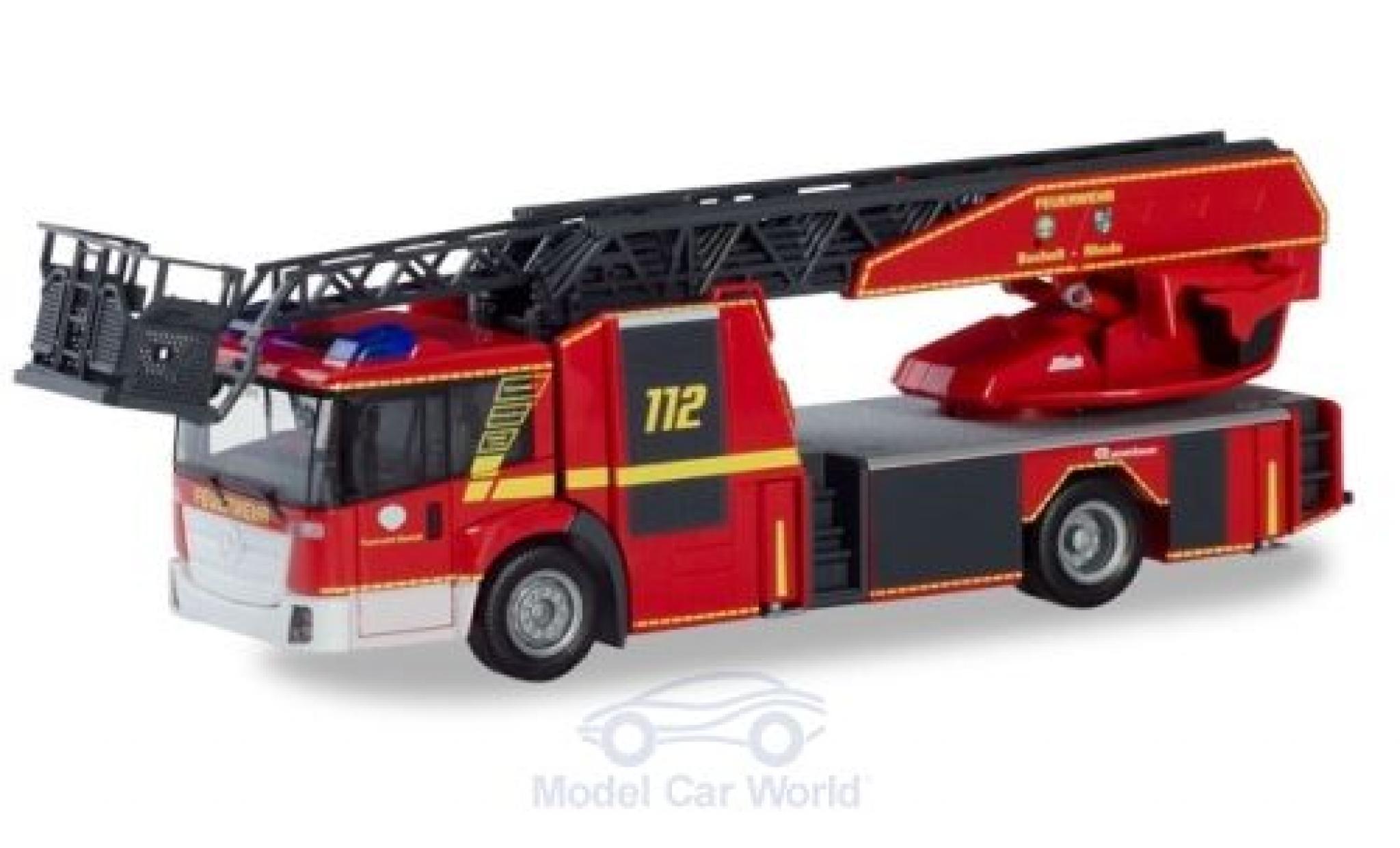 Mercedes Econic 1/87 Herpa Drehleiter Feuerwehr Bocholt / Rhede