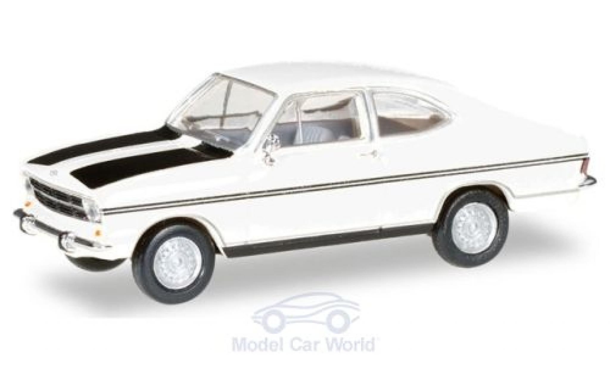 Opel Kadett 1/87 Herpa B Coupe Rally blanche/noire