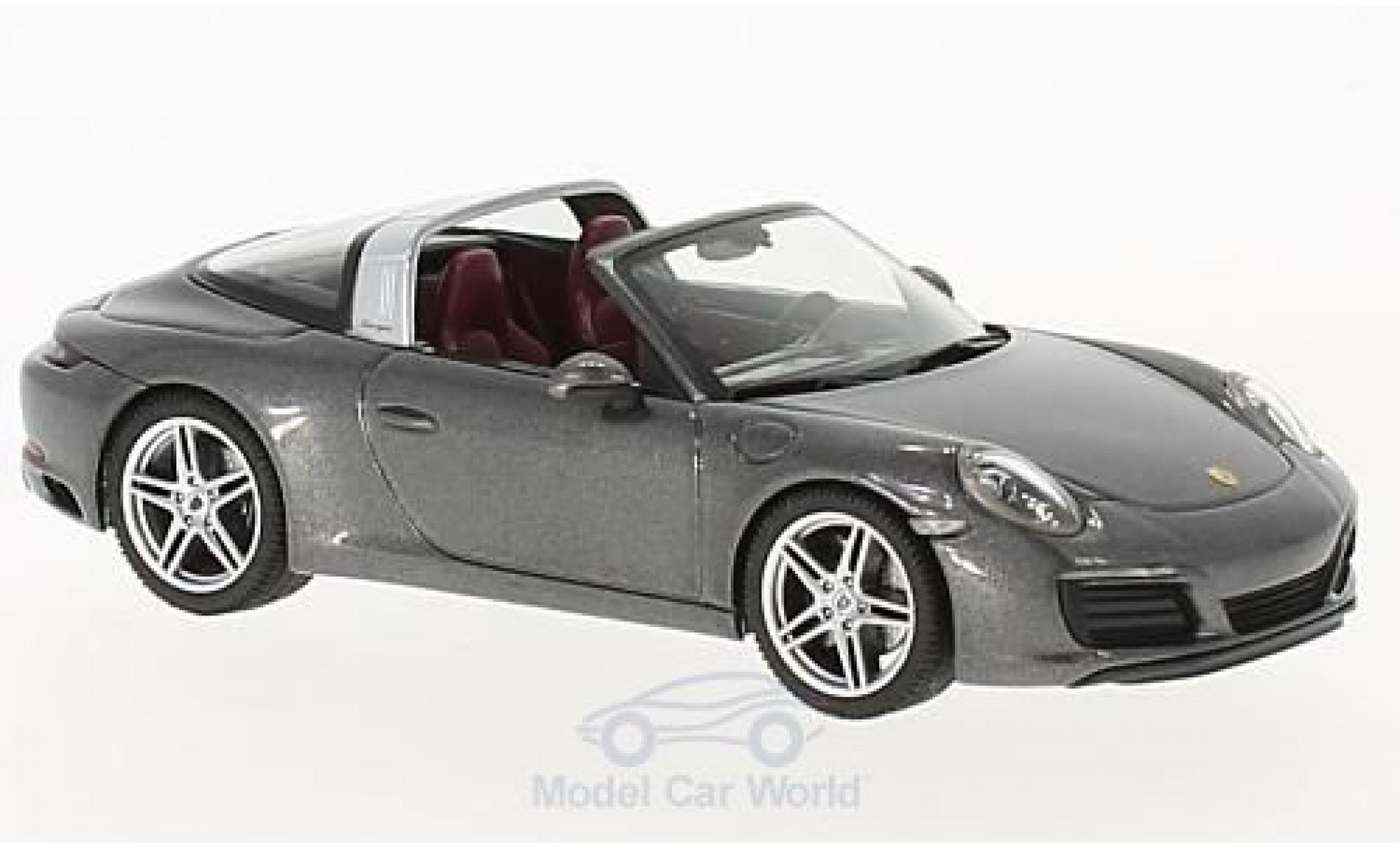 Porsche 991 Targa 1/43 Herpa 911  4 metallise grise