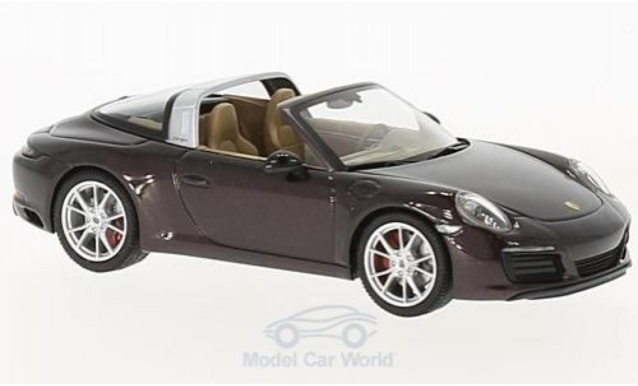 Porsche 991 Targa 1/43 Herpa 911  4S metallise brown
