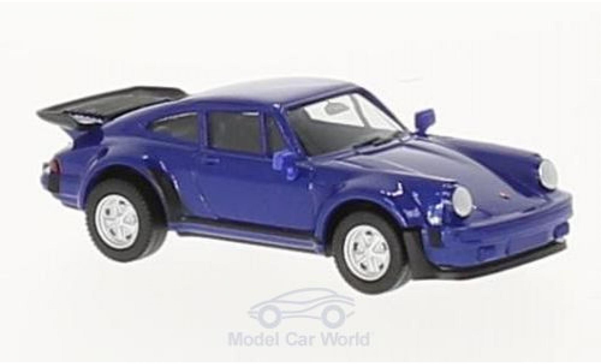 Porsche 911 Turbo 1/87 Herpa Turbo metallic-blue