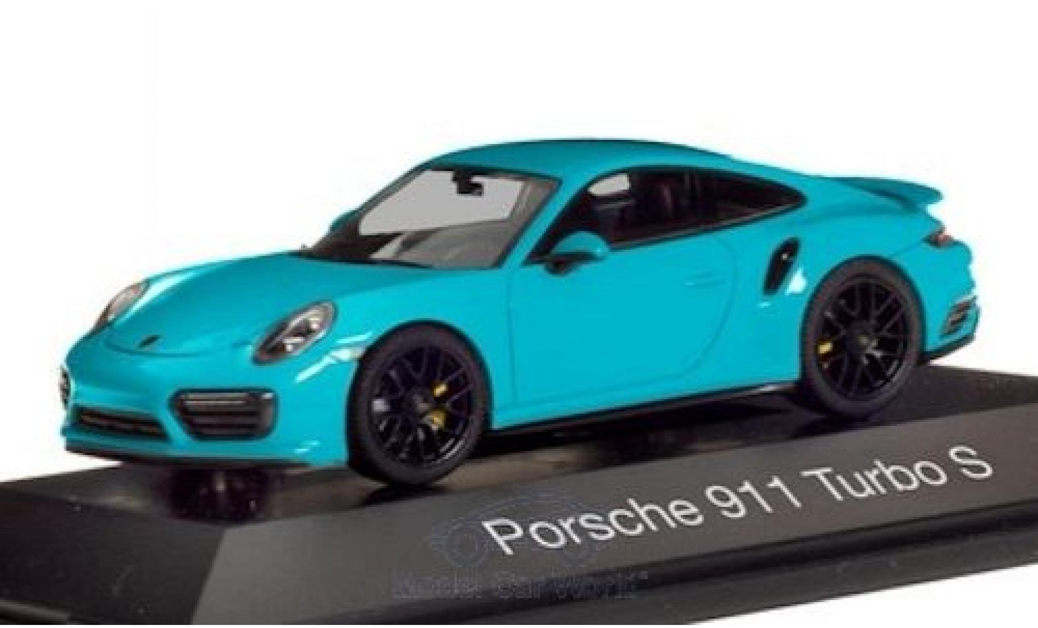 Porsche 992 Turbo s 1/43 Herpa 911 Turbo S  bleue