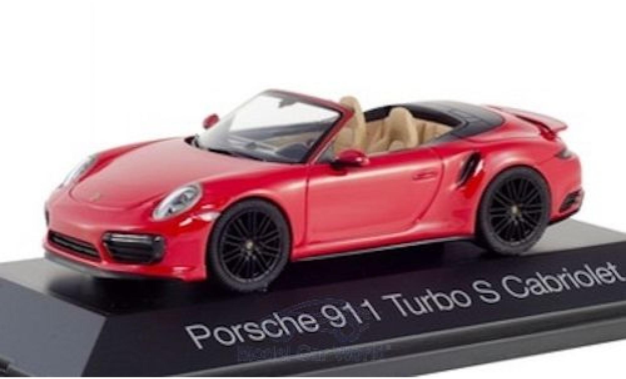 Porsche 992 Turbo s 1/43 Herpa 911 Turbo S Cabriolet  rouge