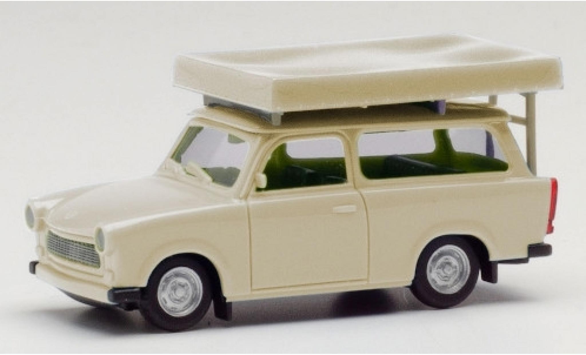 Trabant 601 1/87 Herpa Universal beige avec Tente sur toit dans le état de conduite