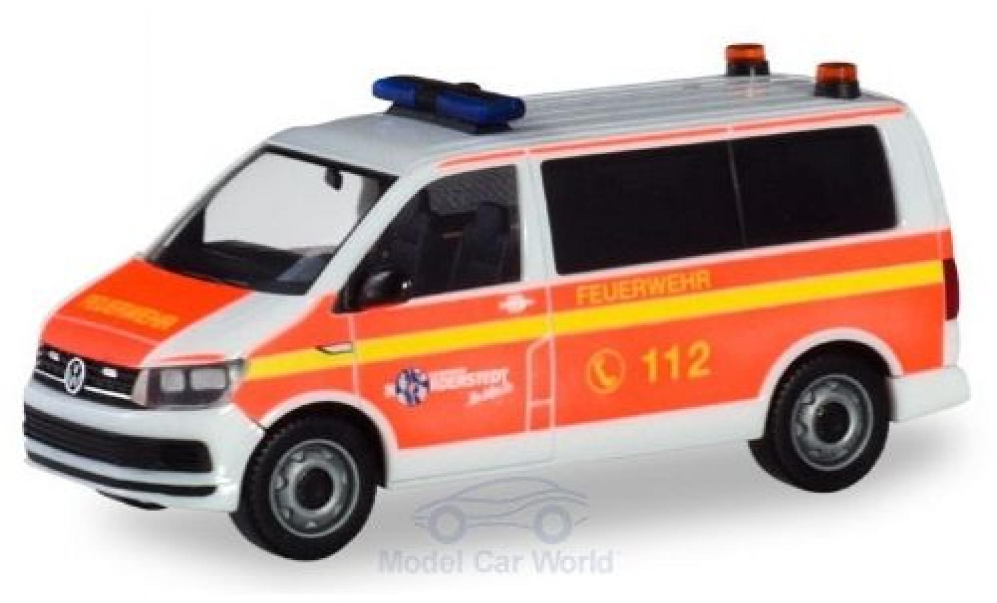 Volkswagen T6 1/87 Herpa Bus Freiwillige Feuerwehr Norderstedt Mannschaftstransportwagen