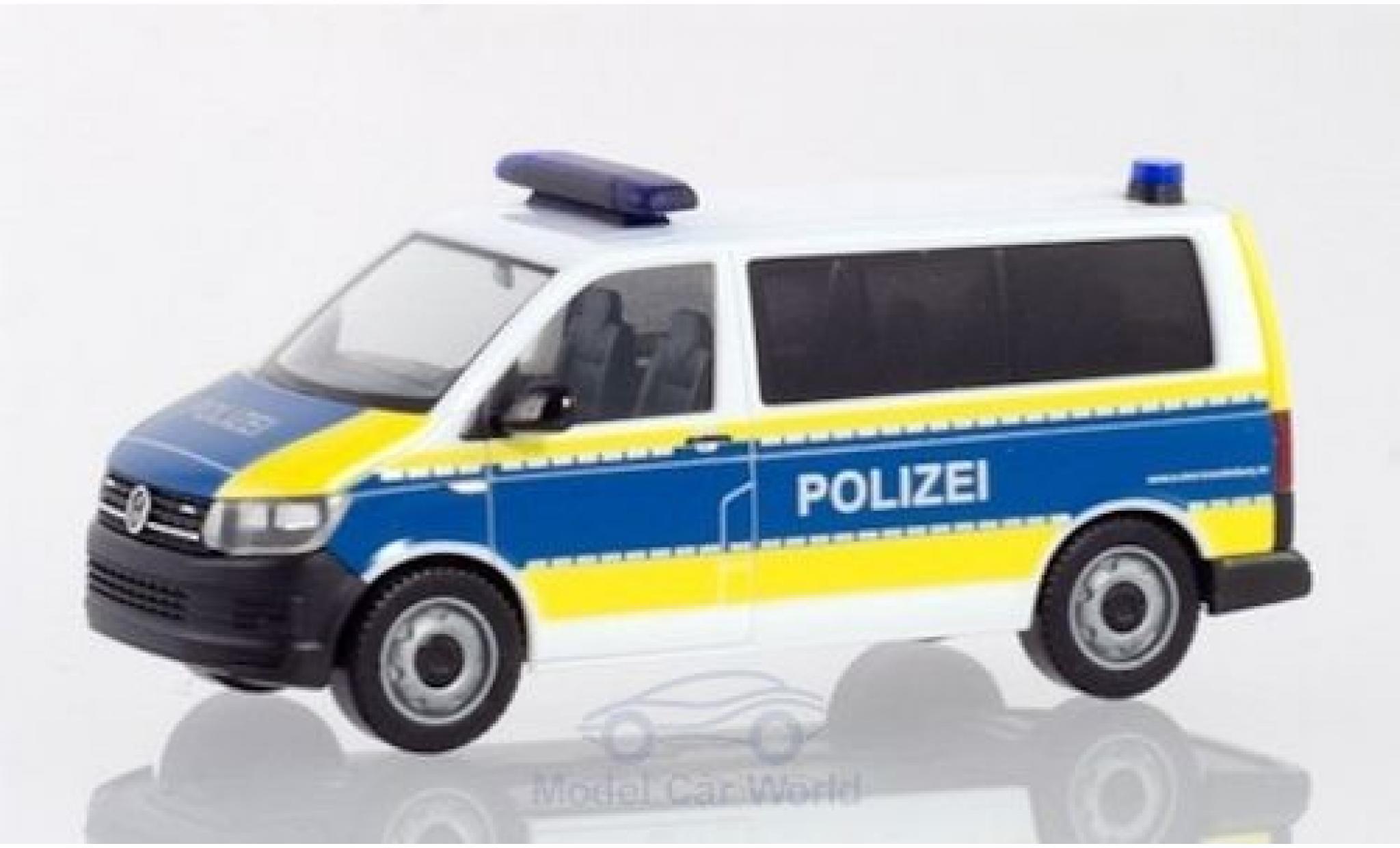 Volkswagen T6 1/87 Herpa Bus Polizei Brandenburg