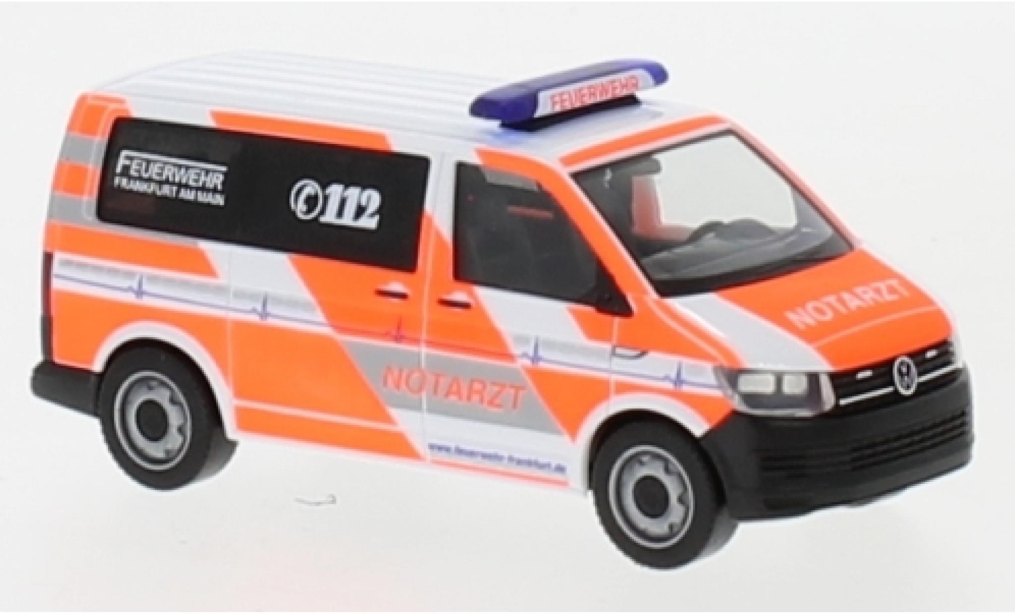 Volkswagen T6 1/87 Herpa Notarzt Feuerwehr Frankfurt / Main