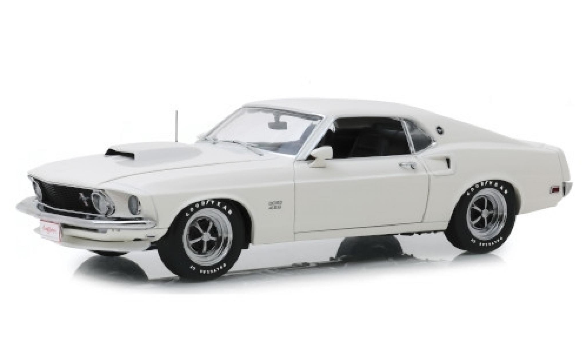 Ford Mustang 1/18 Highway 61 BOSS 429 blanche 1969