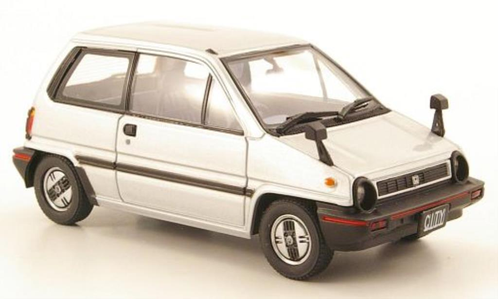 Honda City 1/43 Ebbro grise 1981 miniature