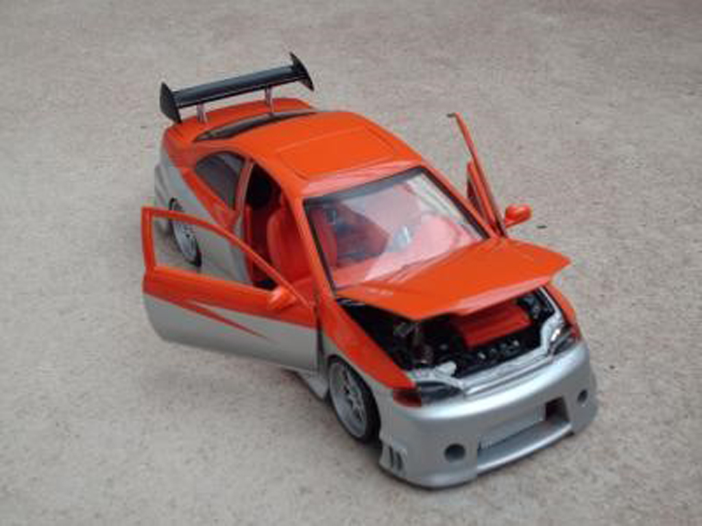 Honda Civic 1/18 Ertl paredech orange grey
