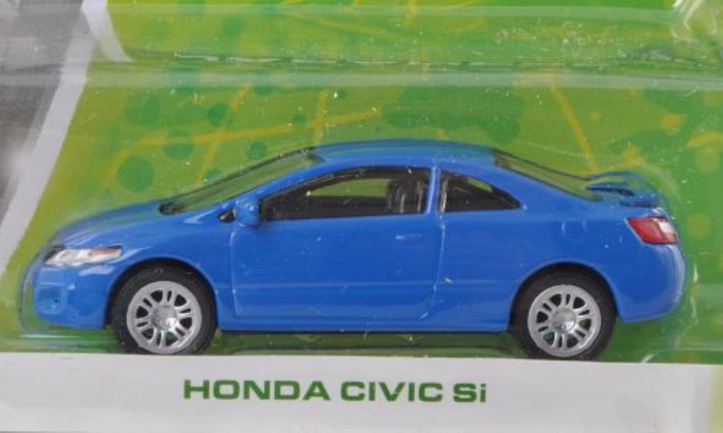 Honda Civic 1/64 Greenlight Si bleu miniature