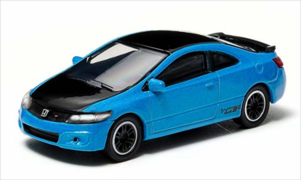 Honda Civic 1/64 Greenlight SI bleu/noire 2011 miniature