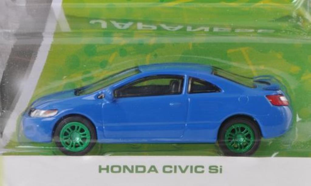 Honda Civic 1/64 Greenlight Si bleu Special Version miniature