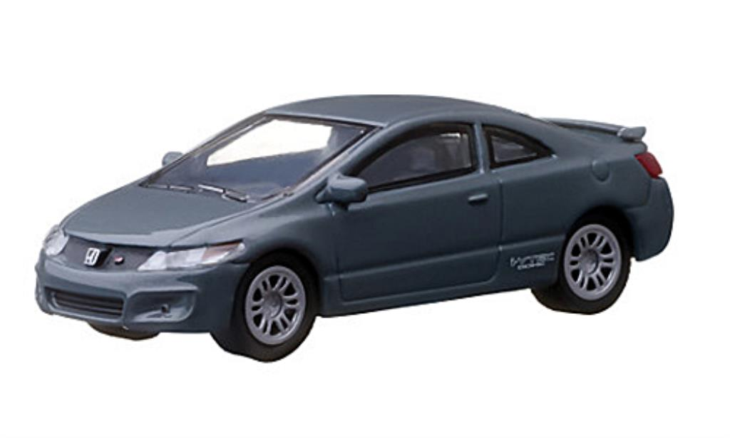 Honda Civic 1/64 Greenlight Si grise 2011 miniature