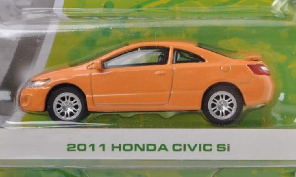 Honda Civic Si orange-beige 2011 Greenlight. Honda Civic Si orange-beige 2011 miniature 1/64