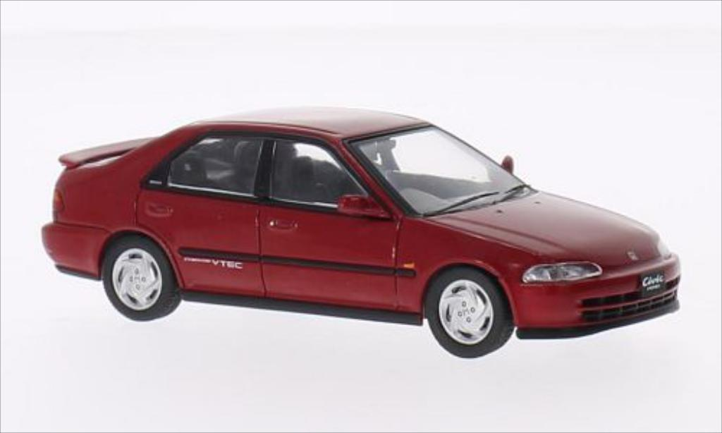 Honda Civic SiR (EG9) red RHD 1992 IXO. Honda Civic SiR (EG9) red RHD 1992 miniature 1/43
