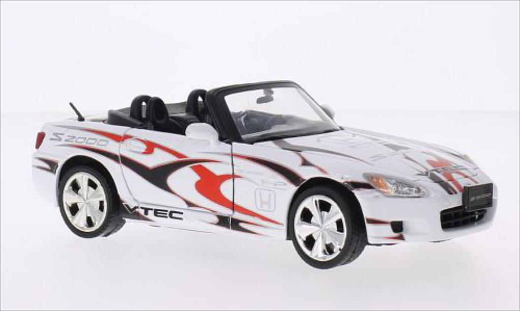 Honda S2000 1/24 Motormax blanche/Dekor miniature