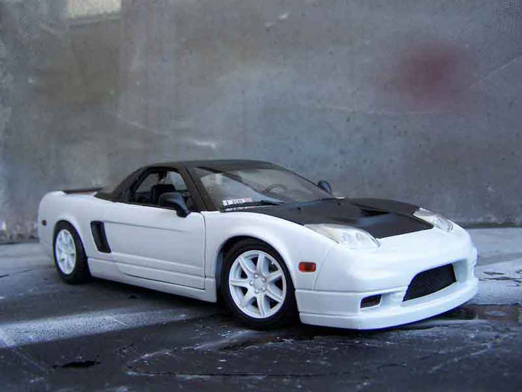 Honda NSX 1/18 Motormax type r white tuning diecast model cars