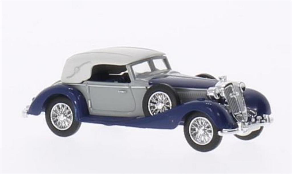 Horch 853 1/87 Busch Cabriolet geschlossen grise/bleu 1933 miniature