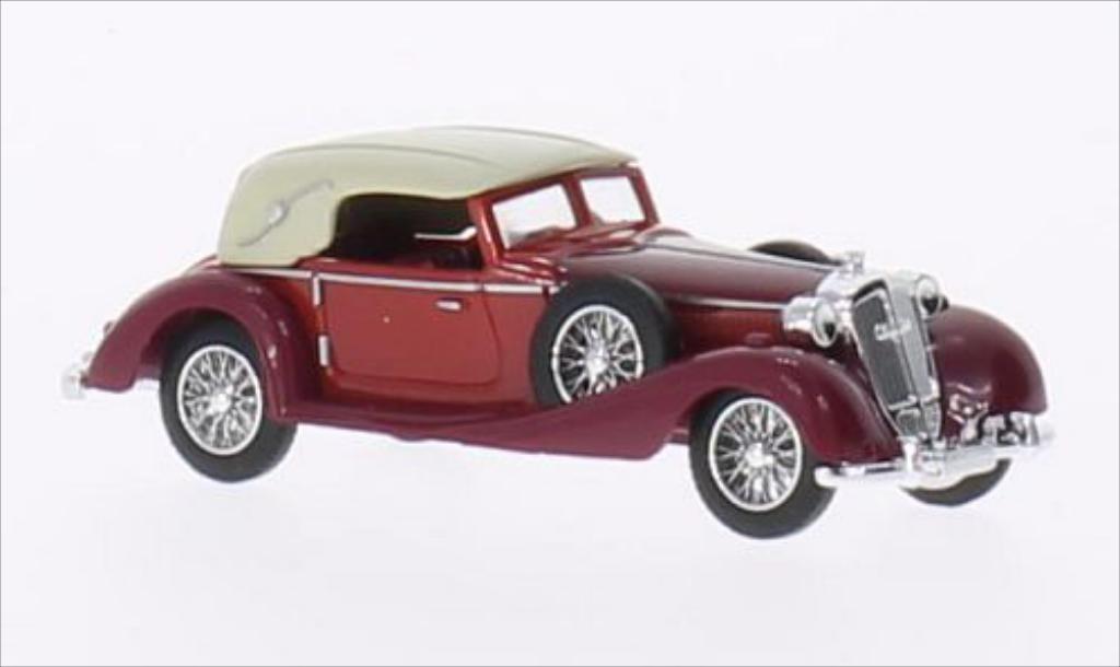 Horch 853 1/87 Busch Cabriolet geschlossen rouge/rouge 1933 miniature