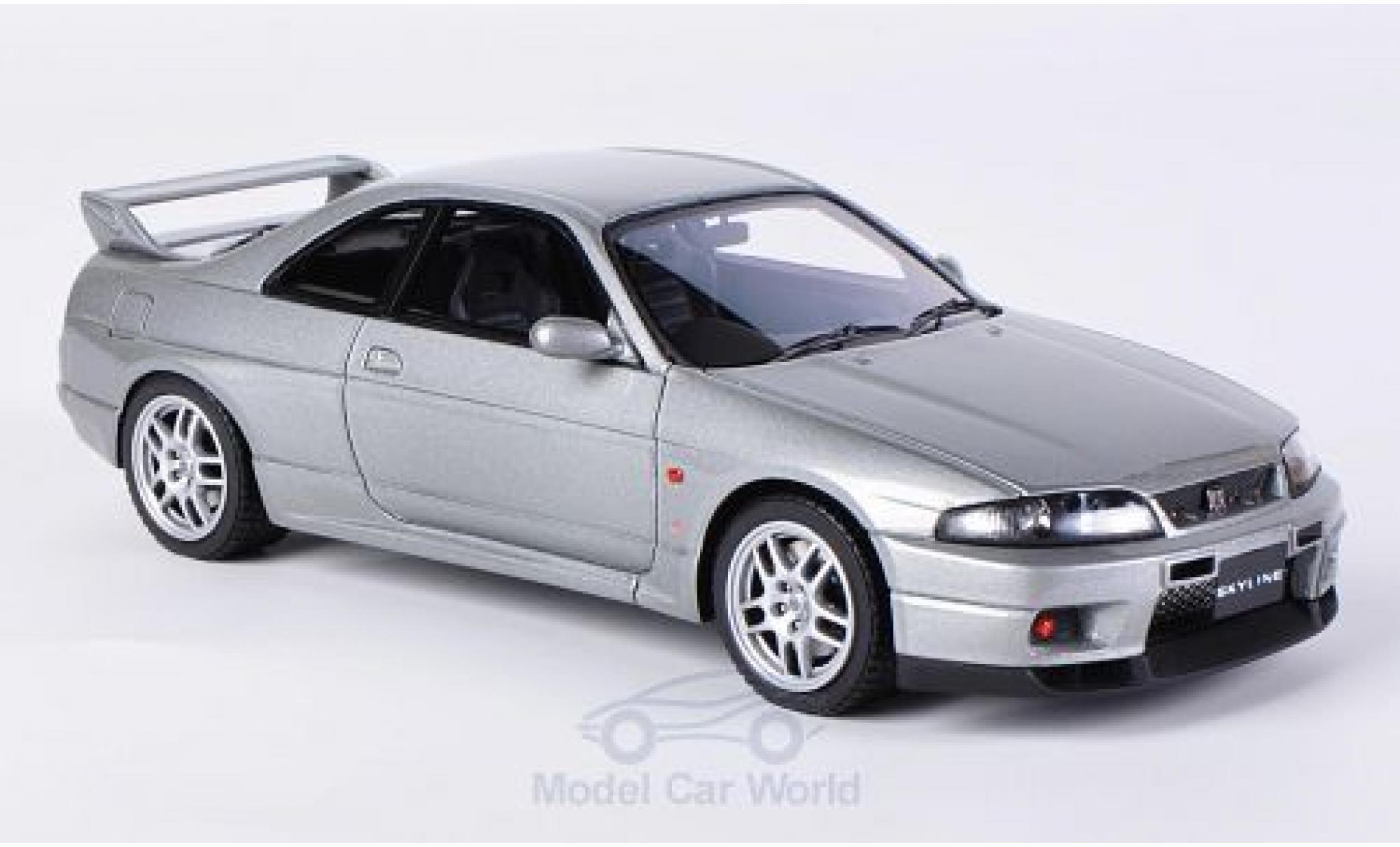 Nissan Skyline 1/43 HPI MIrage GT-R V-Spec (R33) metallic-grise RHD
