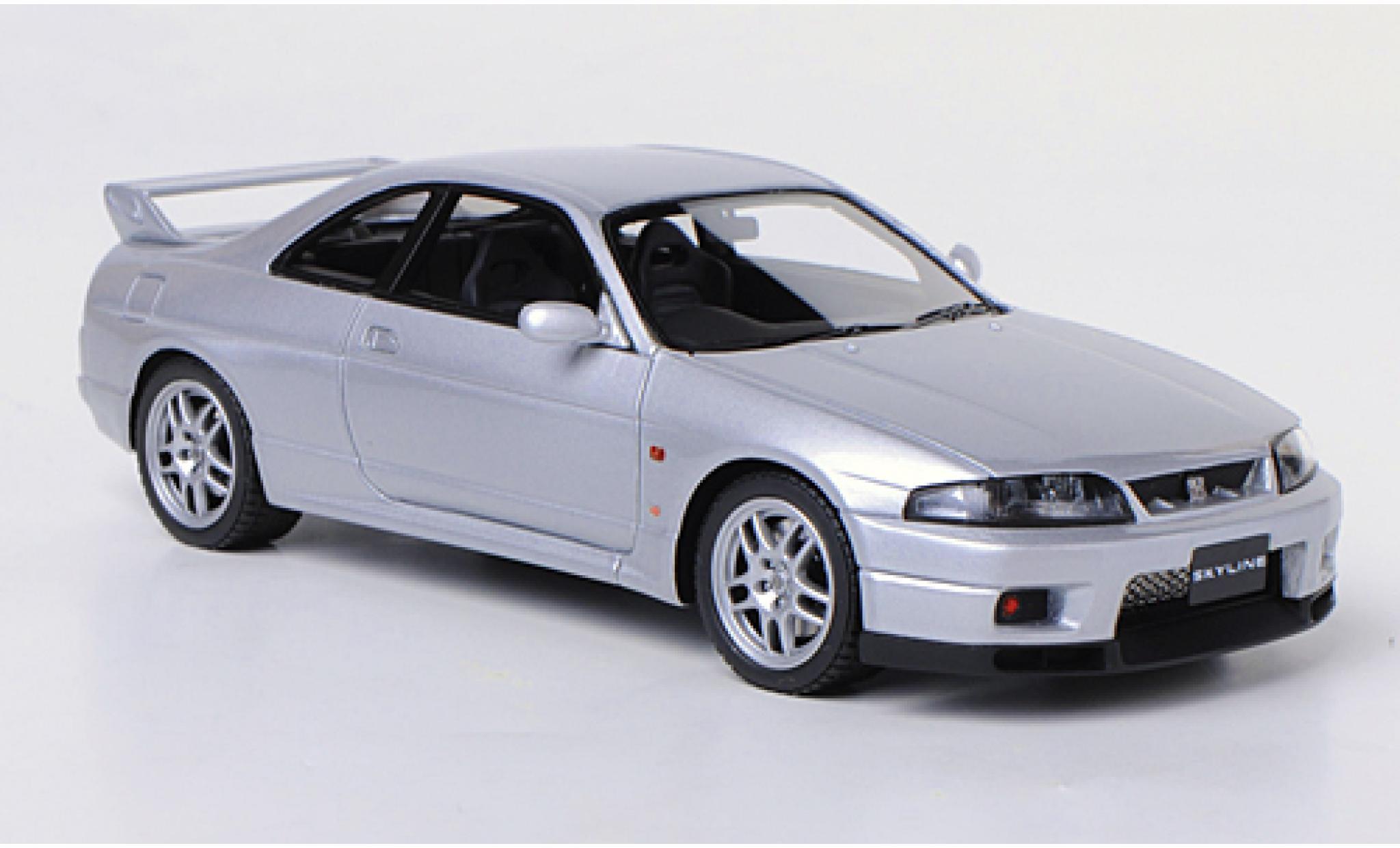 Nissan Skyline 1/43 HPI MIrage GT-R V-Spec (R33) grise RHD 1995