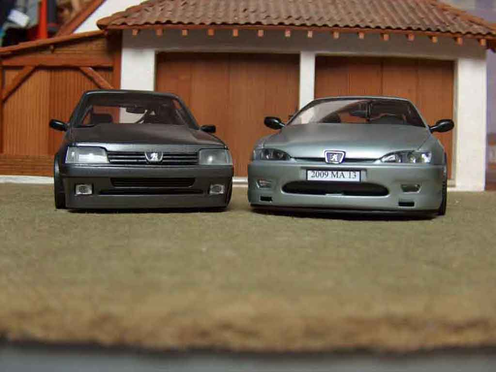 Peugeot 406 1/18 Gate coupe grise metallized