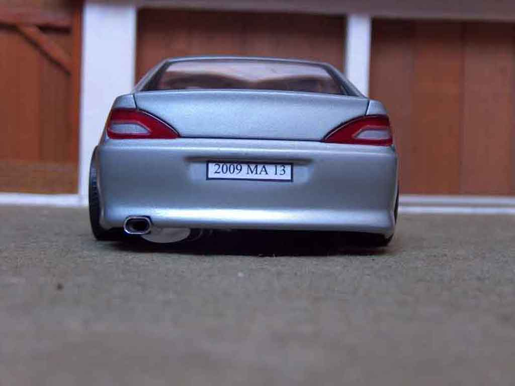 Peugeot 406 1/18 Gate coupe grise metallized tuning miniature