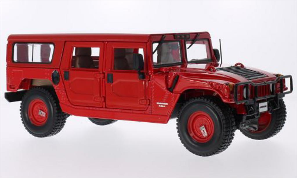 Hummer H1 1/18 Maisto 4-Door Wagon rouge miniature