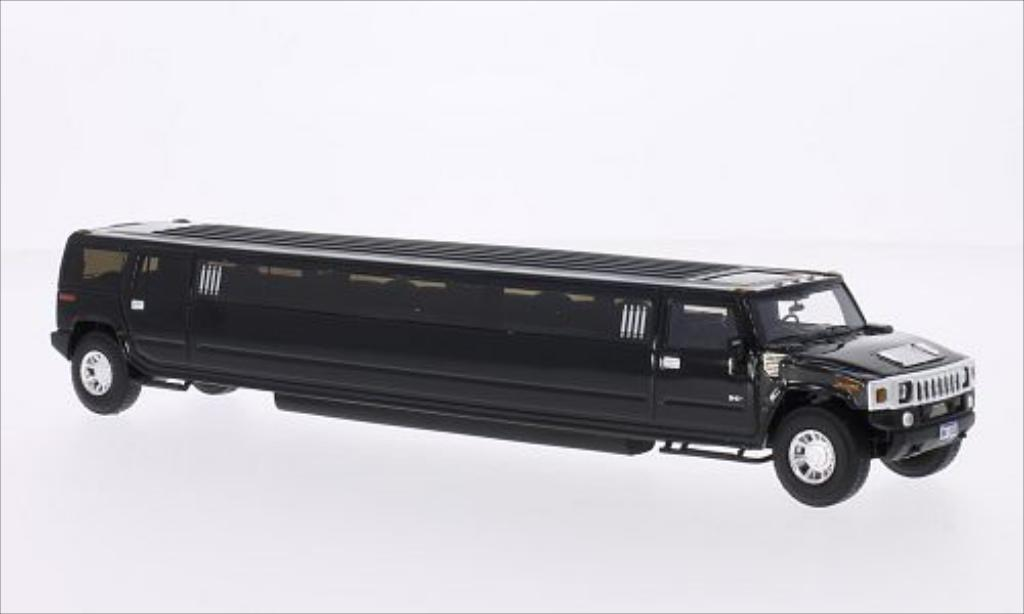 hummer h2 stretchlimousine schwarz neo modellauto 1 43. Black Bedroom Furniture Sets. Home Design Ideas