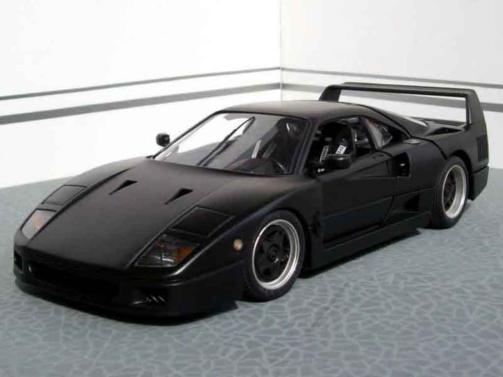 Ferrari F40 Black Burago Diecast Model Car 1 18 Buy Sell