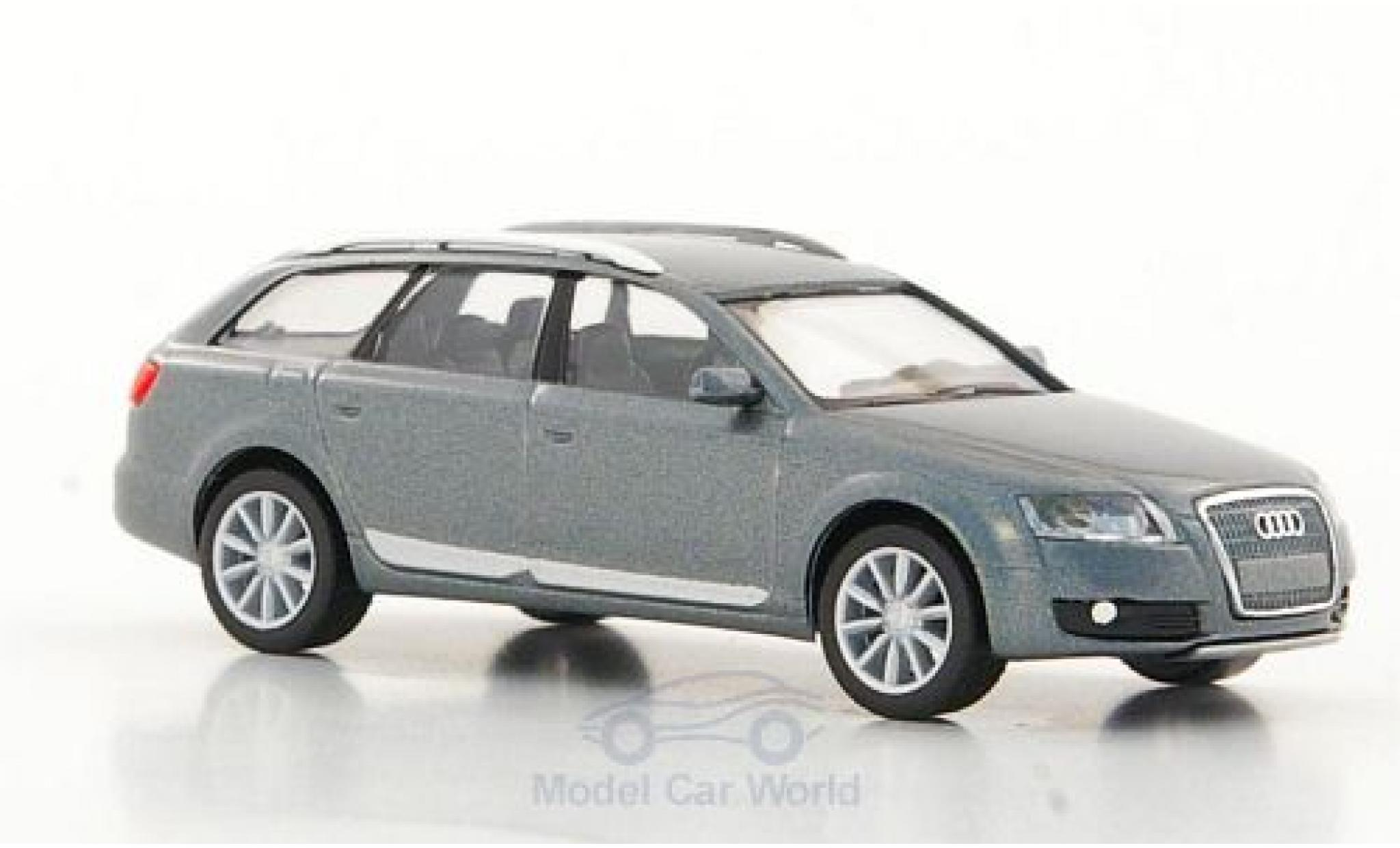 Audi A6 1/87 Herpa Allroad quattro metallise grise 2006