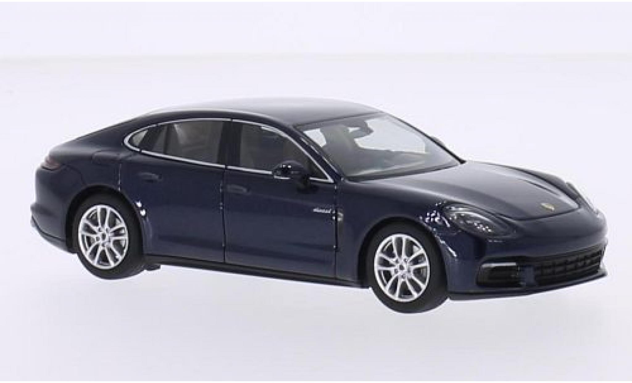 Porsche Panamera 4S 1/43 I Herpa Diesel metallise bleue 2016