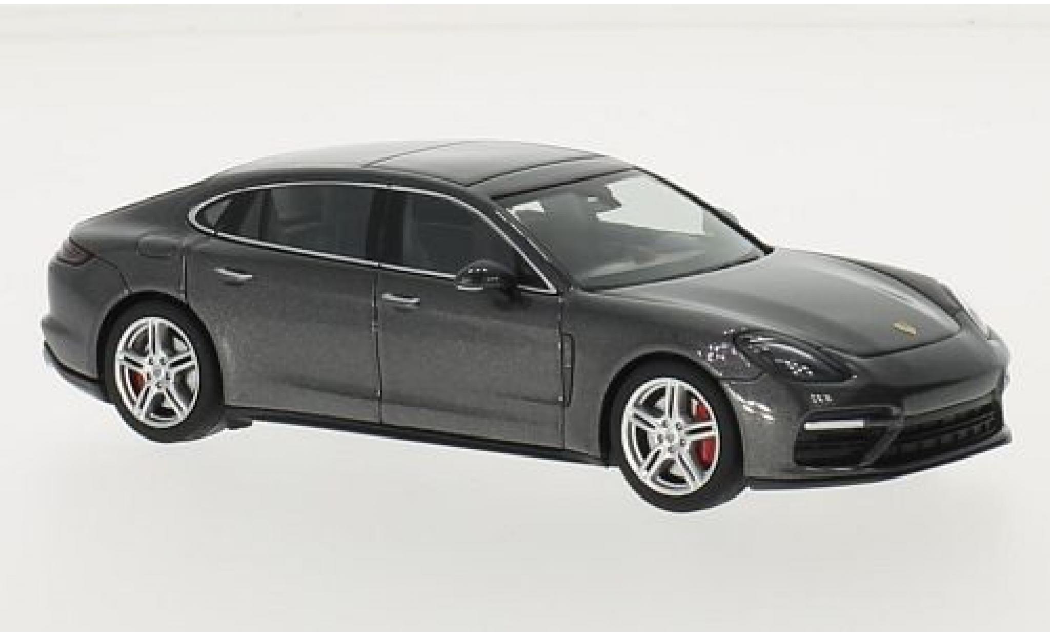 Porsche Panamera Turbo 1/43 I Herpa Executive metallise grise 2016