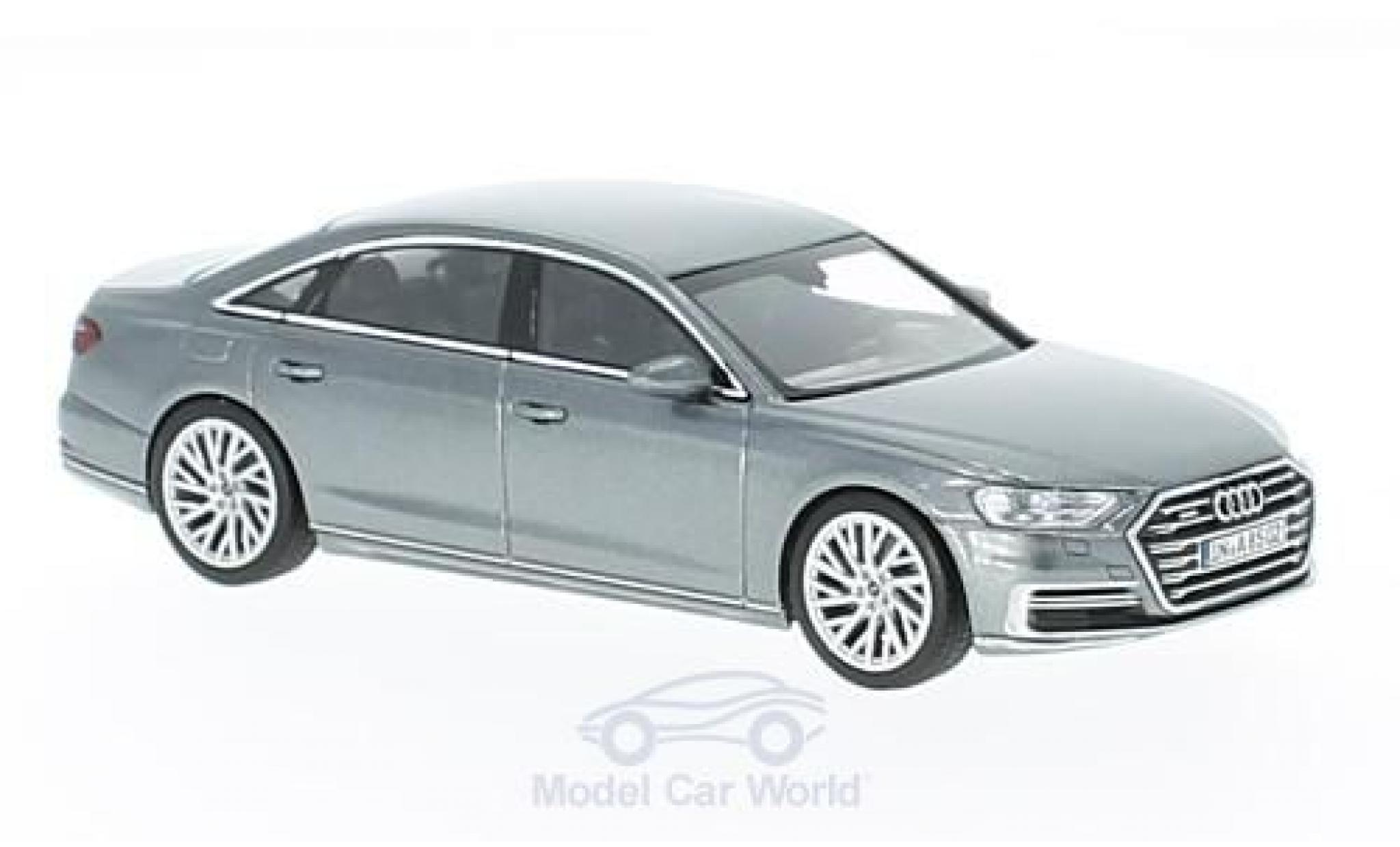 Audi A8 1/43 iScale L métallisé grise 2017