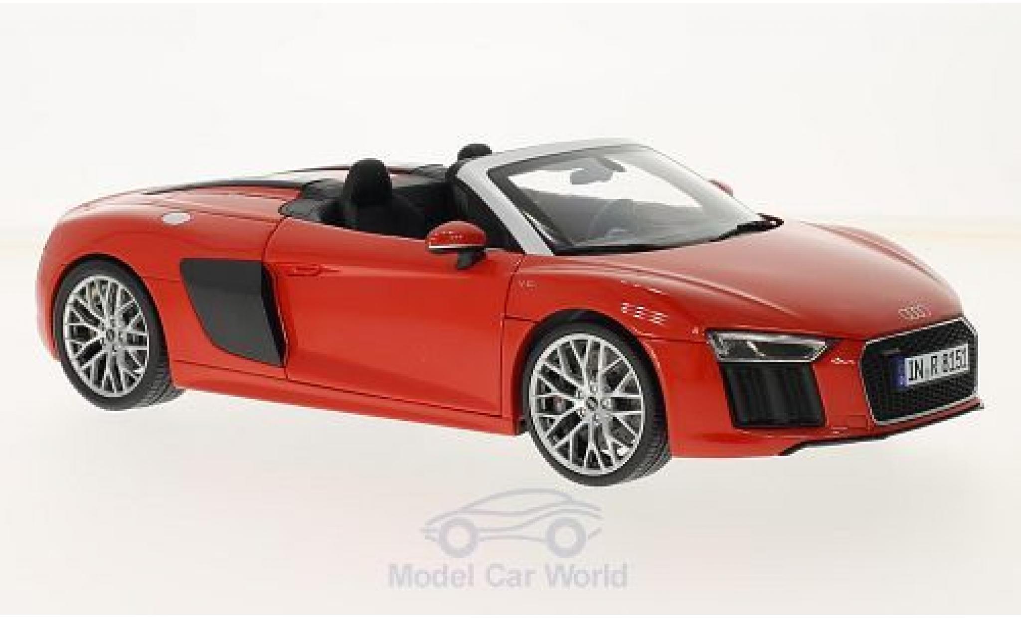 Audi R8 1/18 iScale Spyder V10 red 2016 ohne Vitrine