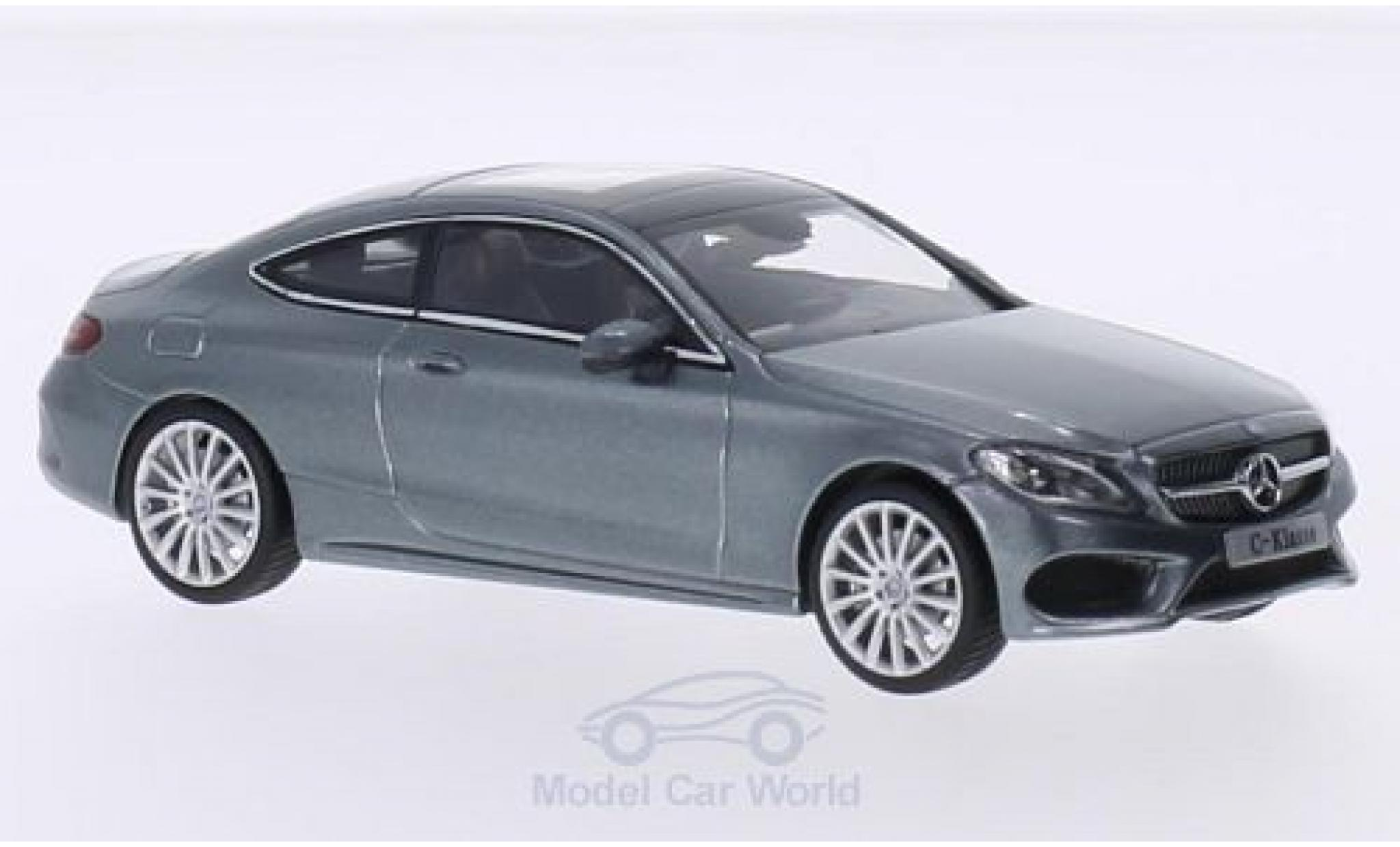 Mercedes Classe C 1/43 iScale Coupe métallisé grise