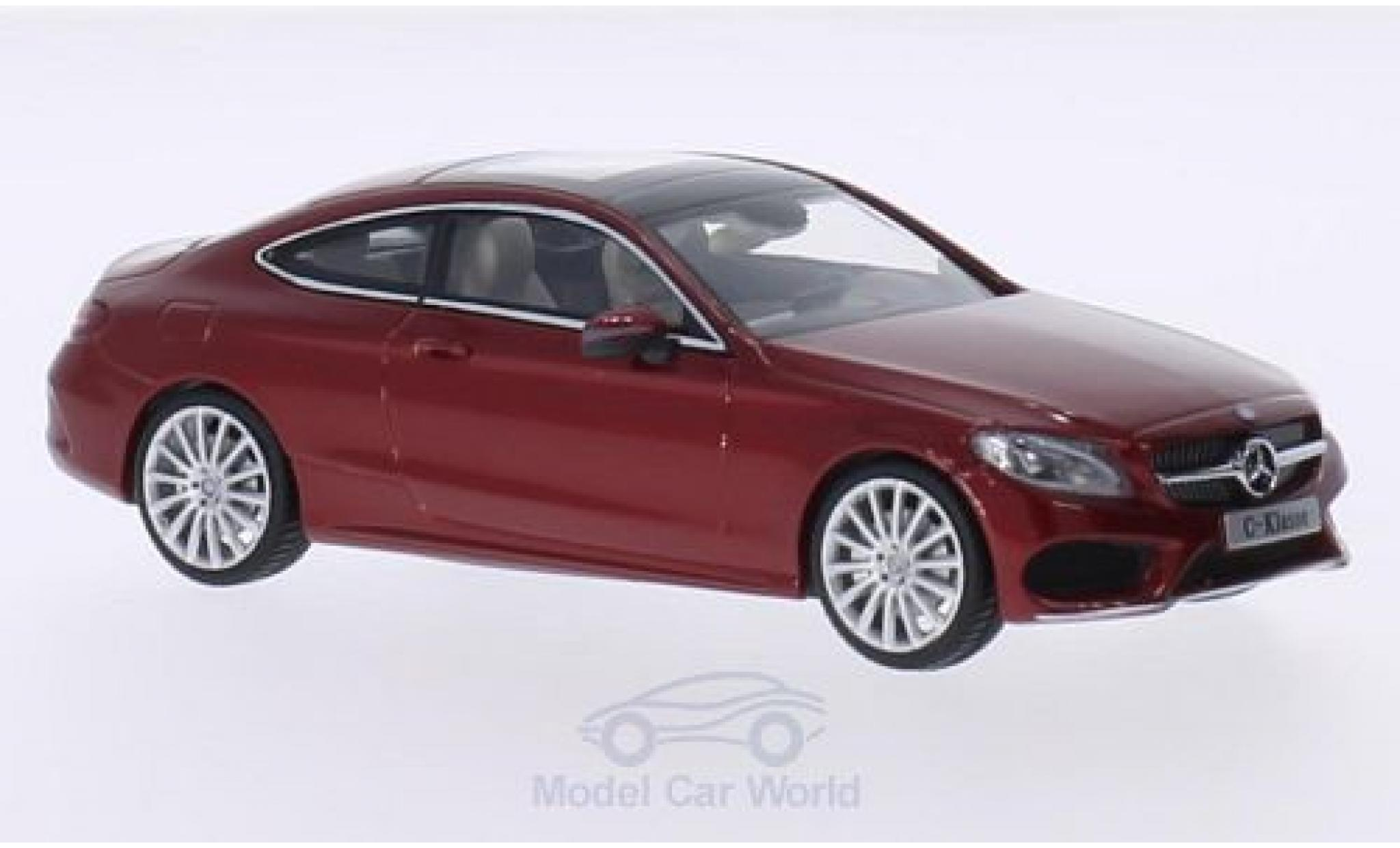 Mercedes Classe C 1/43 iScale Coupe metallise rouge