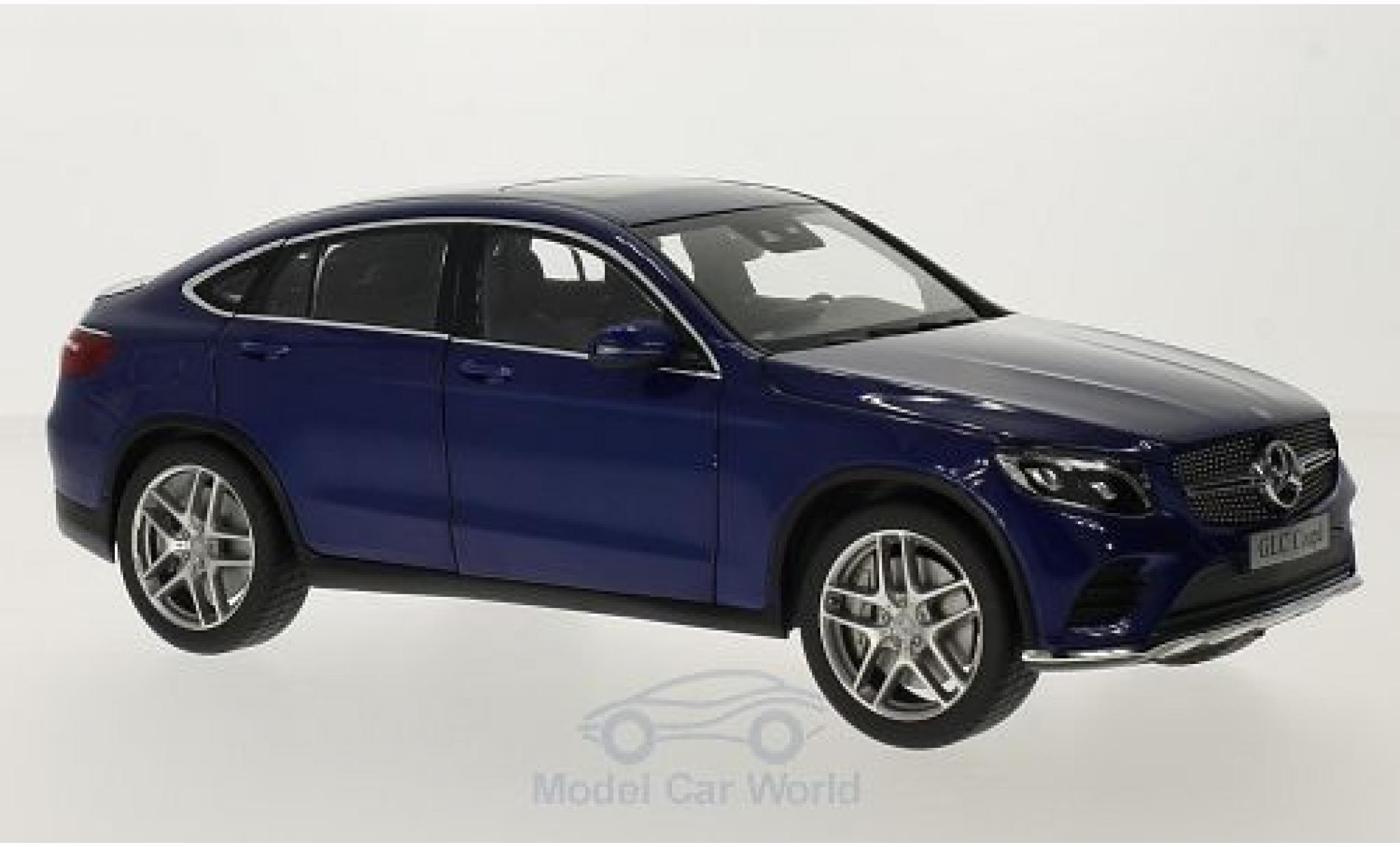 Mercedes Classe GLC 1/18 iScale GLC Coupe (C253) metallise bleue