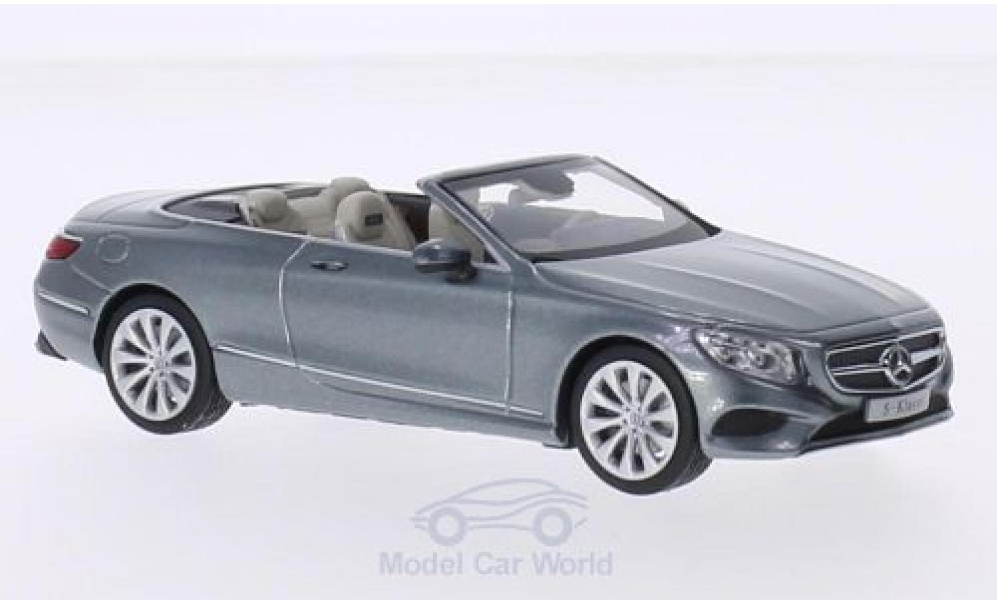 Mercedes Classe S 1/43 I iScale Cabrio métallisé grise