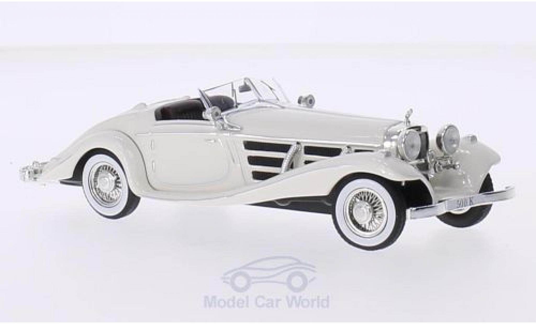 Mercedes 500 K 1/43 IXO K (W29) Spezial Roadster blanche