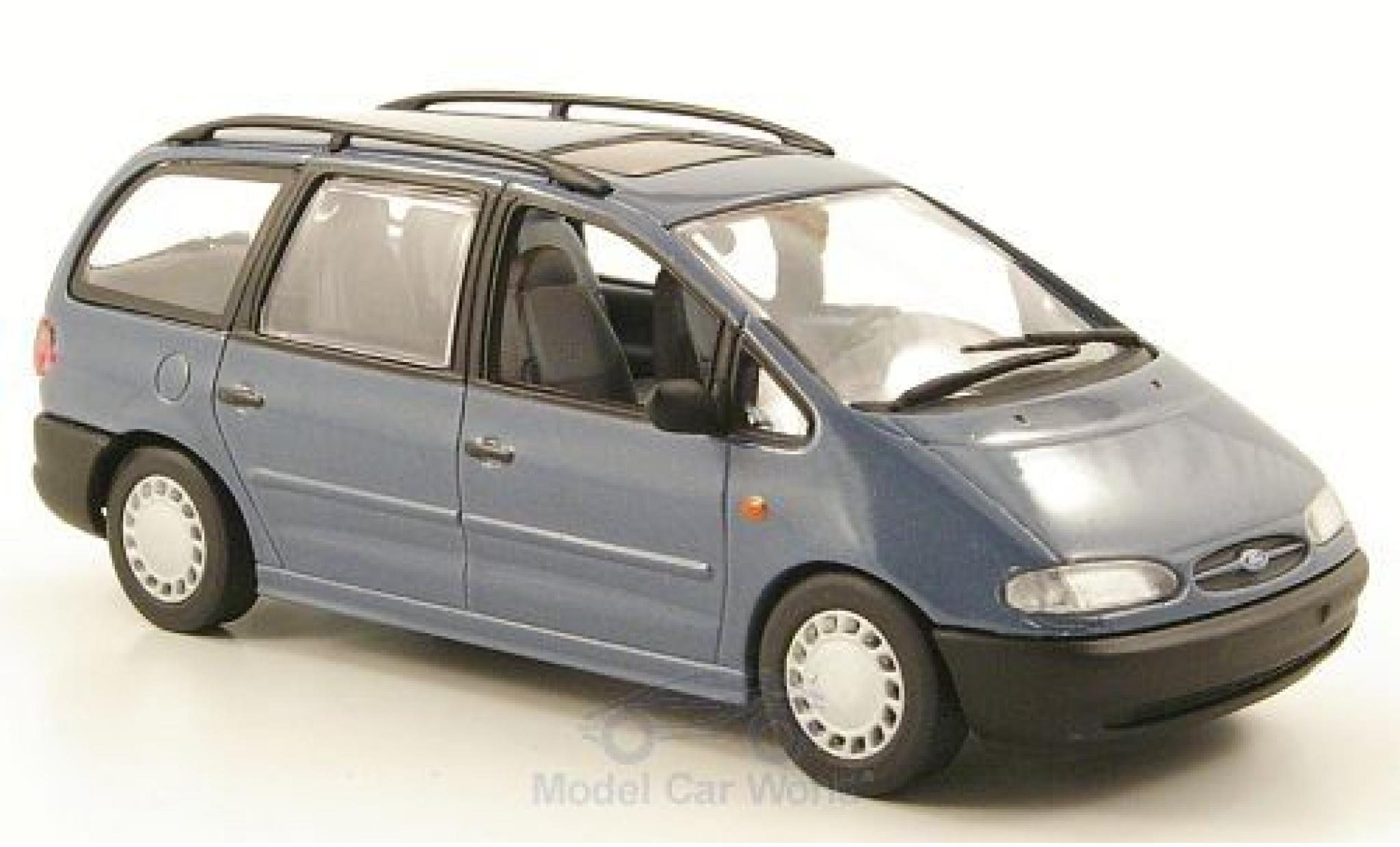 Ford Galaxy 1/43 Minichamps MKI metallise bleue 1995