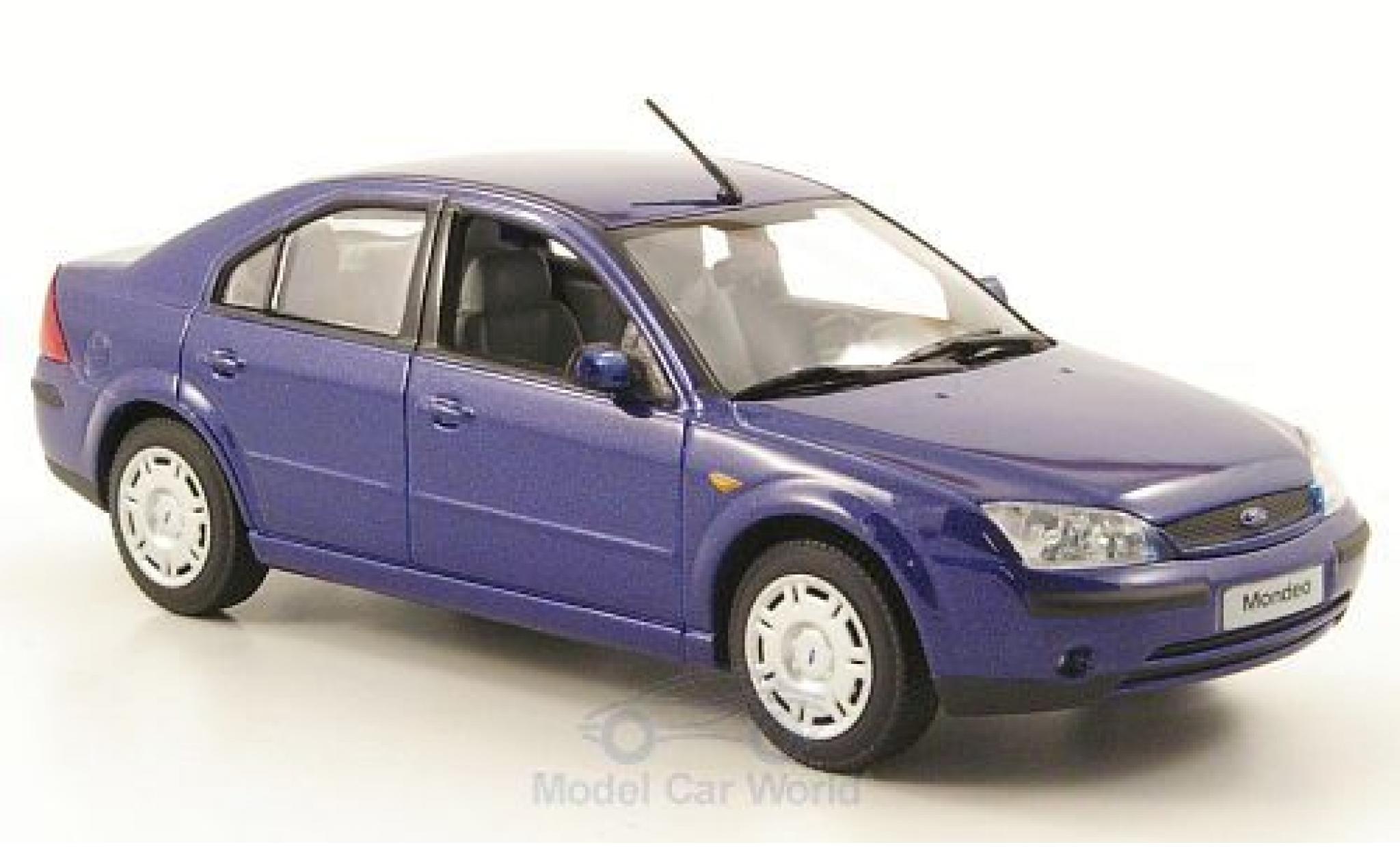 Ford Mondeo 2001 1/43 Minichamps MKIII metallise bleue Stufenheck