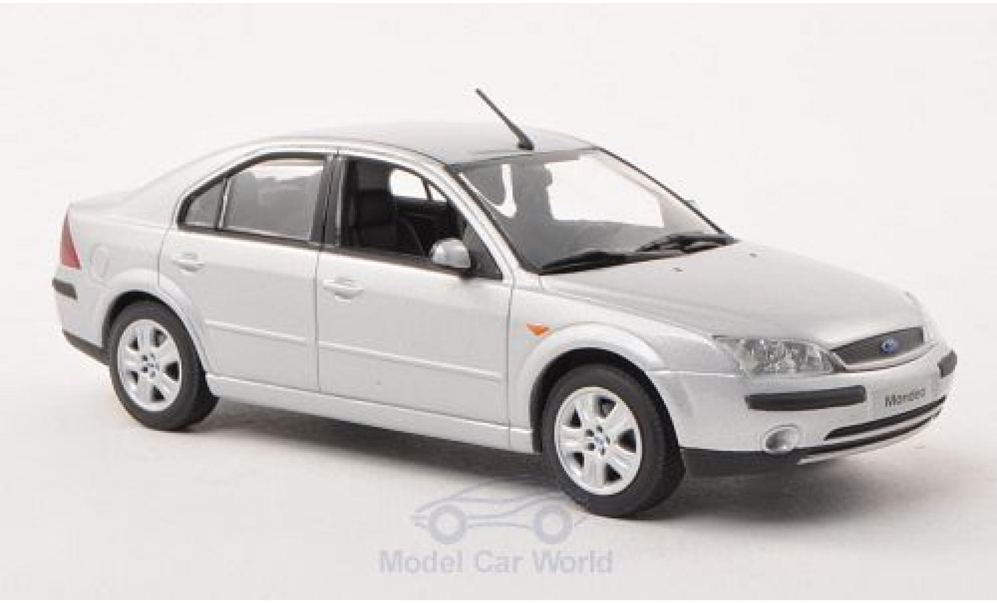 Ford Mondeo 1/43 Minichamps MKIII grise 2001 Stufenheck