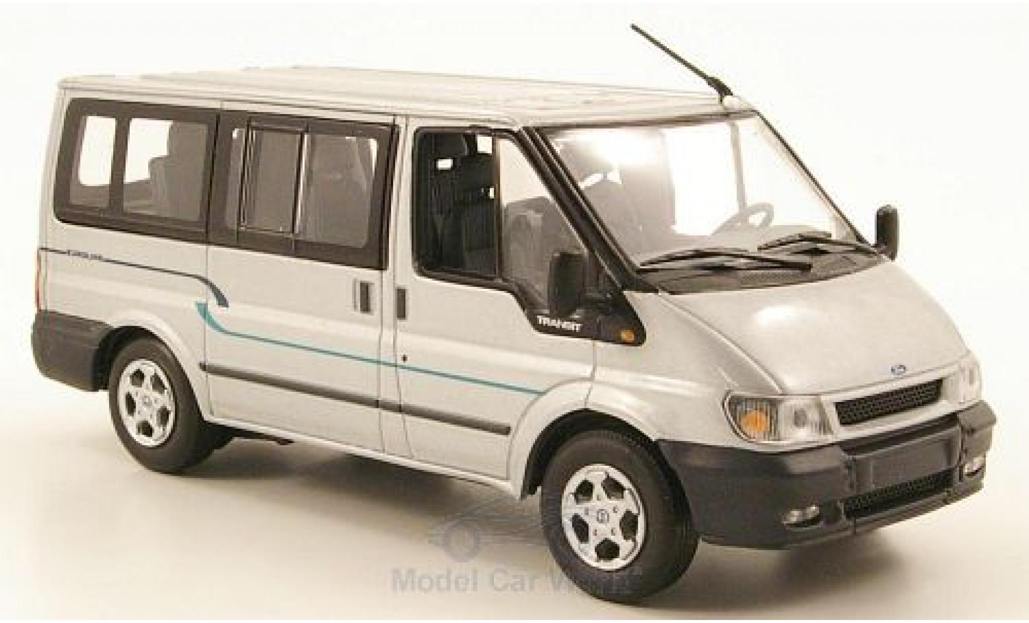 Ford Transit 1/43 Minichamps Bus Euroline grise 2000 ohne Vitrine