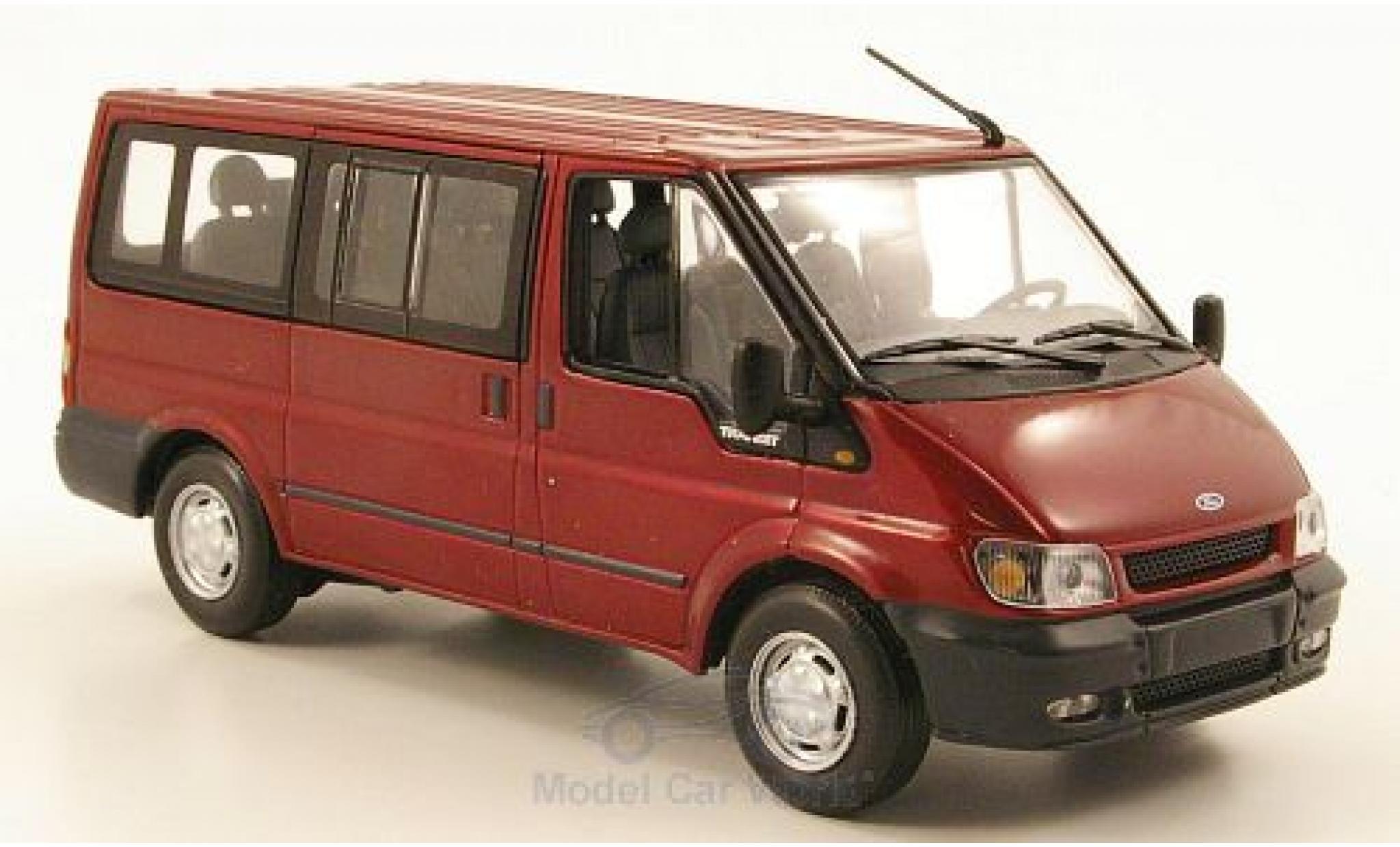 Ford Transit 1/43 Minichamps Bus Tourneo metallise rouge 2000 ohne Vitrine