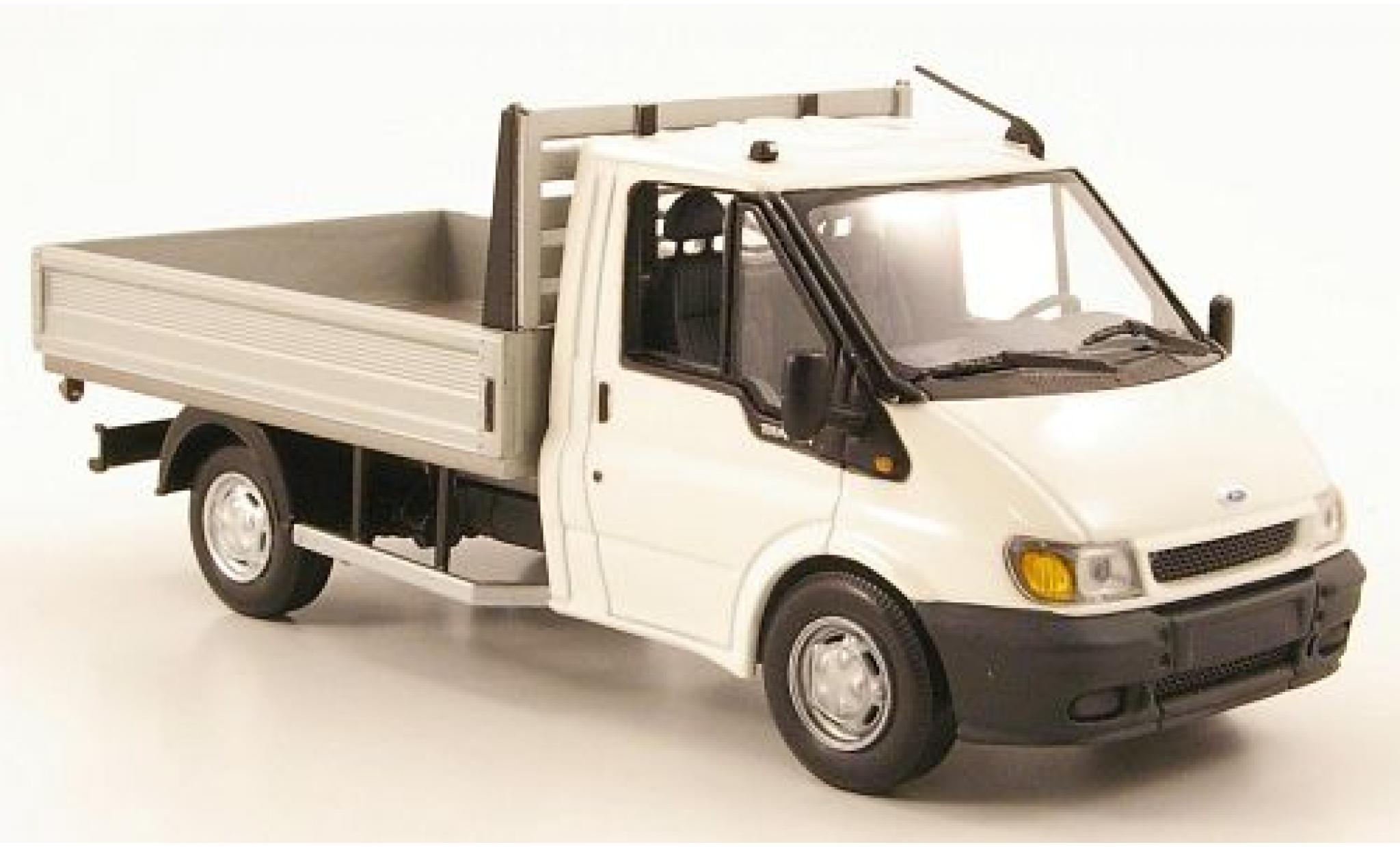 Ford Transit 1/43 I Minichamps Pritsche blanche 2000 sans Vitrine